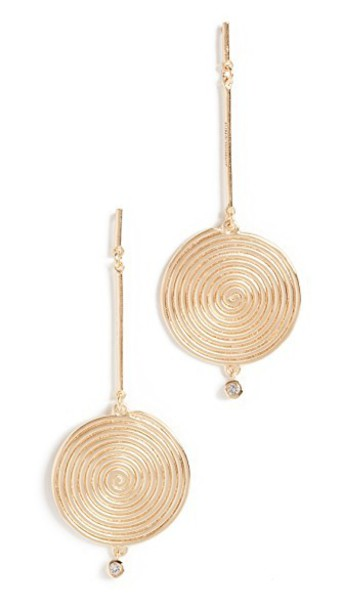 Elizabeth and James earrings gold jewels