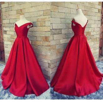 dress gown red dress ball gown dress