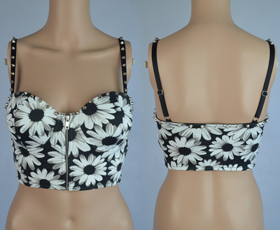 Floral Rivet Bustier Cropped top · Humbly Glam · Online Store Powered by Storenvy