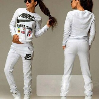 hoodie tracksuit tracksuit bottoms white nike international international nike
