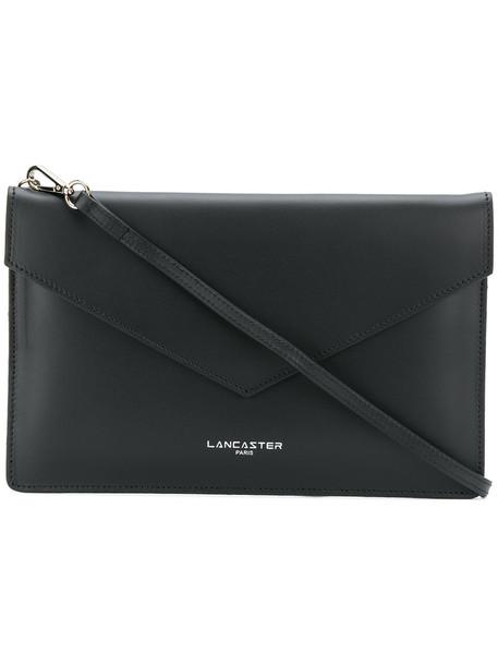 lancaster style women clutch leather black bag