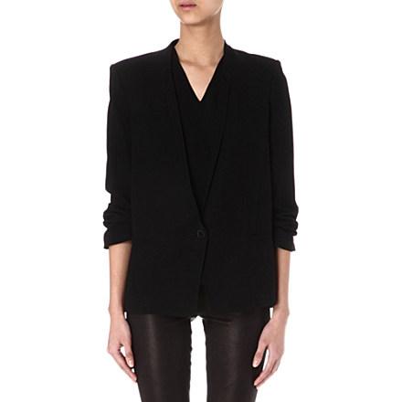 HELMUT LANG - Slouch ruched-sleeve blazer | Selfridges.com
