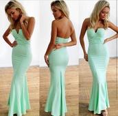 mint,mermaid prom dress,mint dress,sexy dress,long prom dress,long dress,long evening dress,mint green prom dress lace,dress,www.eboylace.net,wedding guest,strapless,outfit,gown