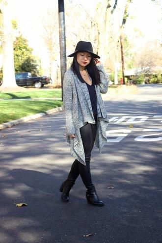 hat blogger cardigan looks by lau