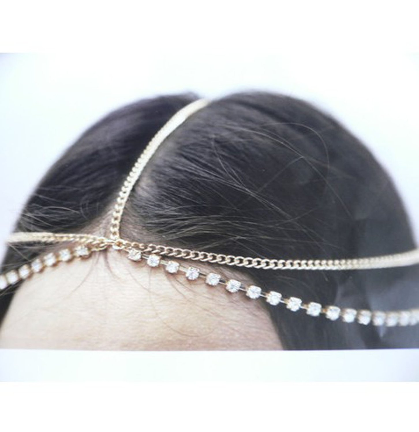 Amazon.com: WIIPU Hair Accessory Head Chain Rhinestones Crystal Head Chain Hair Band: Jewelry