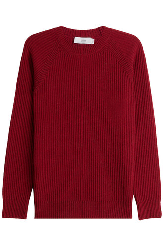 pullover wool red sweater