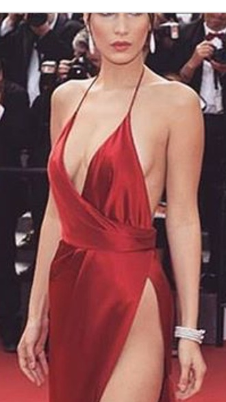 dress red red carpet dress gown red prom dress red dress