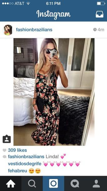 dress black floral print maxi dress floral maxi dress