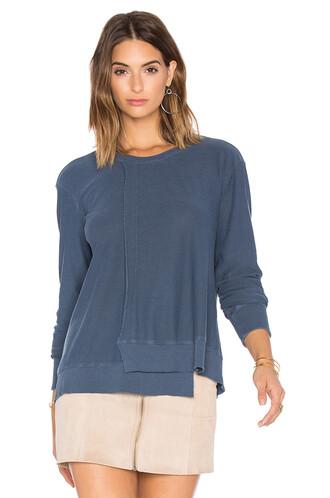 sweatshirt long blue sweater