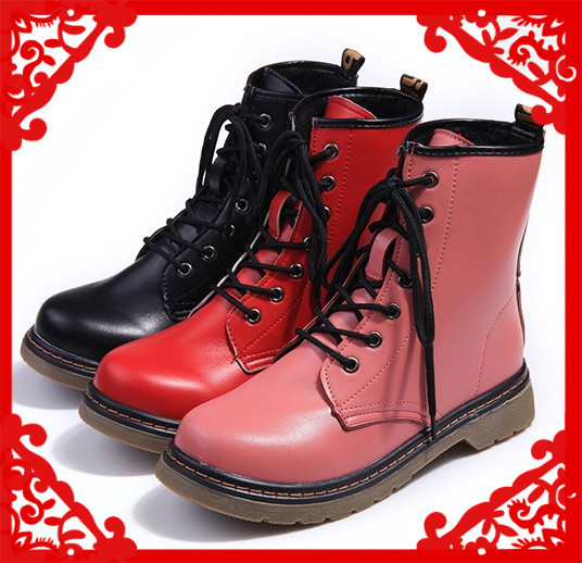 100%Top quality 2013 Fashion lace up martin boots women motorcycle boots autumn winter flat heel ankle platform vintage booties-in Boots from Shoes on Aliexpress.com