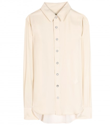 mytheresa.com -  Hudson washed-silk shirt  - Long-sleeved - Tops - Clothing - Luxury Fashion for Women / Designer clothing, shoes, bags