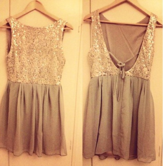 glitter dress short dress new year's eve light color dress