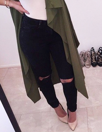 jeans denim ripped jeans black jeans high waisted jeans skinny jeans outfit outfit idea streetwear girly wishlist