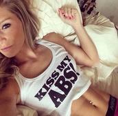 kiss my abs,fashion inspo,top,shirt,t-shirt,sports shirt,abs,sexy shirt