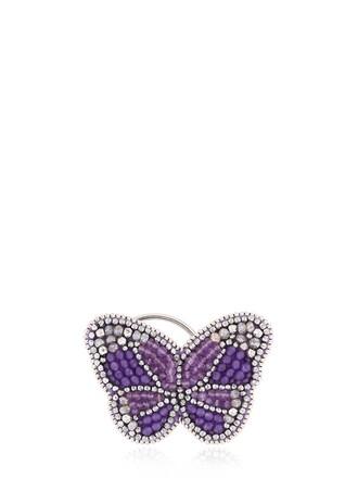 cuff romantic ear cuff purple jewels