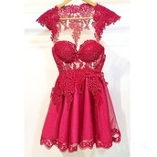 dress,prom dress,prom,lace dress,lace,red dress,red,sexy,embroidered,embroidered dress,bustier,bustier dress