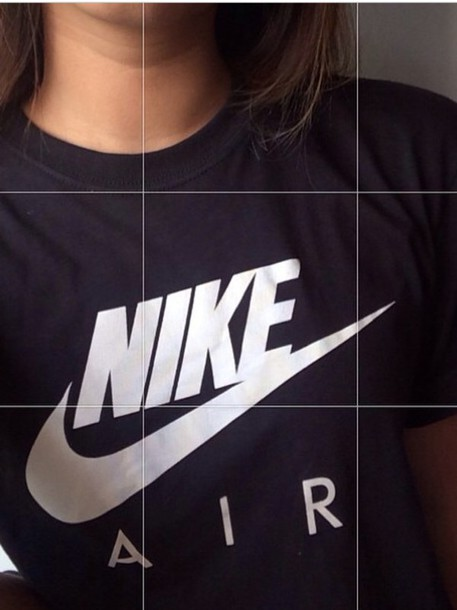 shirt black and white nike shirt