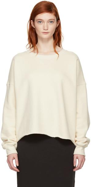 sweatshirt white off-white sweater