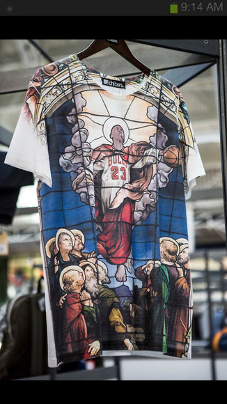 stained glass shirt michael jordan