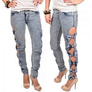 Laina Bows Cutout Jeans