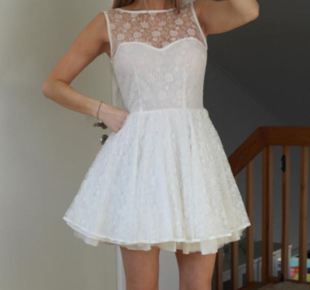 graduation white dress dress prom dress graduation dress lace dress white lace dress short dress short white dress