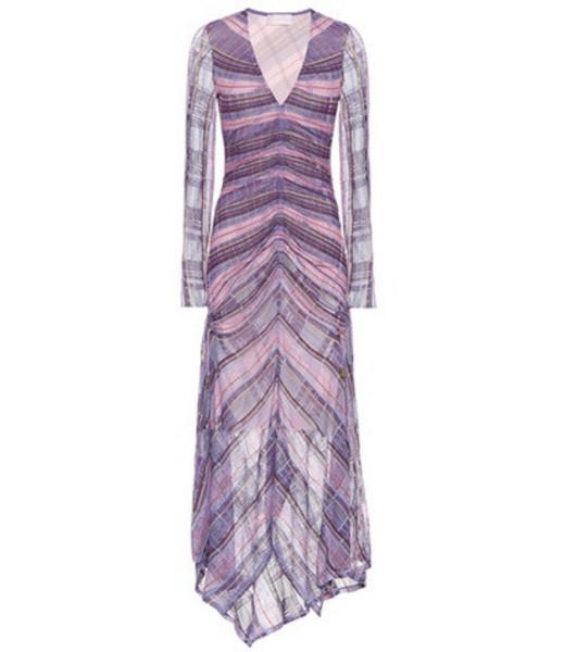 Peter Pilotto Striped dress in purple