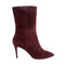3.5 inch boots - burgundy suede low boots