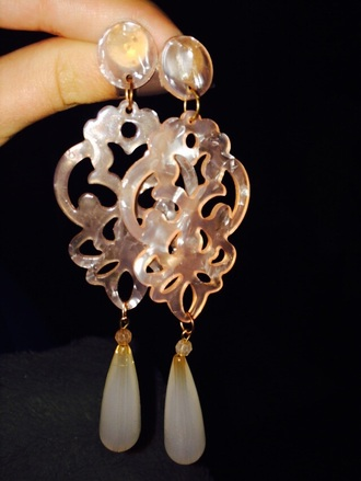 jewels earrings pink