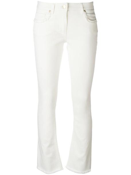 ETRO jeans women spandex white cotton