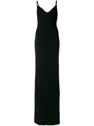 gown women spandex black dress