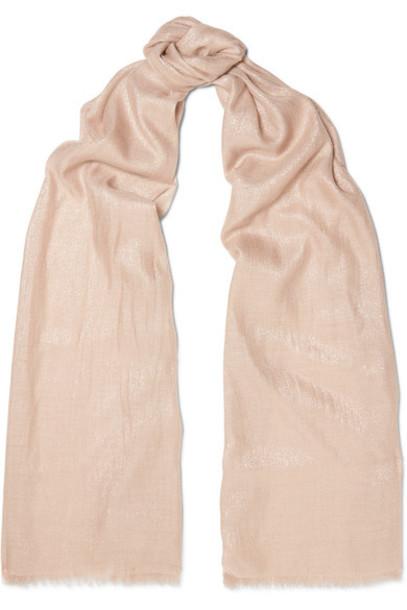 BRUNELLO CUCINELLI metallic scarf beige