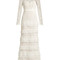 Primrose tiered crepon and guipure-lace gown