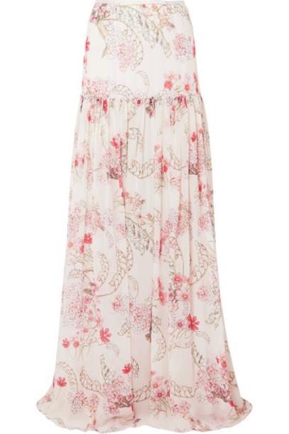 GIAMBATTISTA VALLI skirt maxi skirt maxi chiffon floral print silk