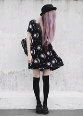 pastel goth,goth,grunge,soft grunge,alien creature,hot,sun,creepers,swag,creepy cute,pastel pink,hair,nu goth,metal,galaxy print,sun print,super hot,trendy,instagram,so tumblr,tumblr dress,hella 90's,fine,dope,knee high socks,platform shoes,formal,formal goth,tumblr outfit,socks,dress,black,hat,style,hairstyles,bag,shoes,vintage,motel rocks,moon,grunge wishlist,hair accessory,rucksack,cute,black dress,black boots,sexy dress,white,pattern,cardigan,dress to kiill,hipster,coloured hair,alternative,hipster dress,space,planets,pale,purple,constellation,black and white dress,goth dress,grunge dress,tumblr,little black dress,universe,universe dress,moons and stars,moon and sun,it girl shop,casual,girly,celestial,pretty,top,boho dress,mini dress,summer,fashion,short dress,skater dress,boogzel