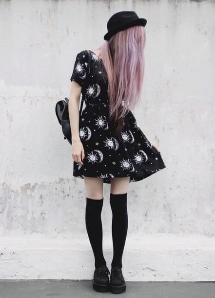 Dress pastel goth goth grunge 90s style 90s style soft grunge alien creature hot sun ...