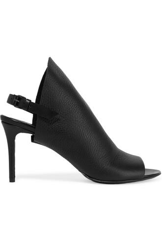 sandals leather black shoes