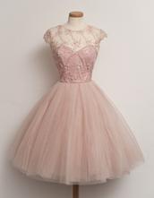 dress,pink,prom dress,pink dress,patterned dress,puffy dress,medium length,vintage dress