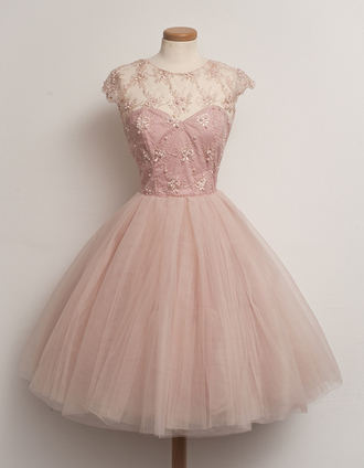 dress pink prom dress pink dress patterned dress puffy dress medium length vintage dress