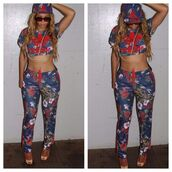 beyonce,adidas originals,joggers,dope,cropped,printed snapback,floral,floral pants,pants,jumpsuit,sweater,top,addidas pants,adidas,tracksuit,crop tops,floral top,adidas tracksuit