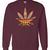 Colorful Weed Maroon Sweatshirt - Basic tees shop