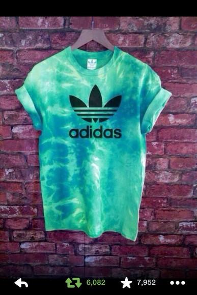 blouse adidas tye dye shirt