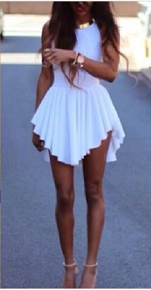 pleated dress vshaped
