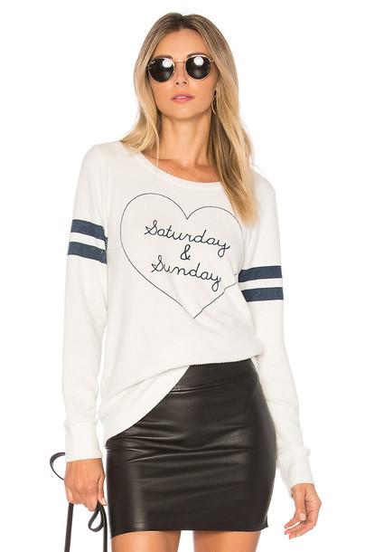 Chaser sweatshirt white sweater