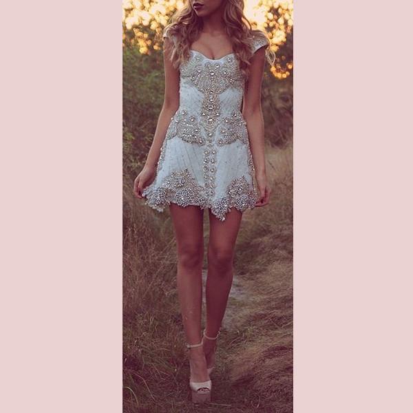 dress embellished dress prom dress light blue blue dress pastel