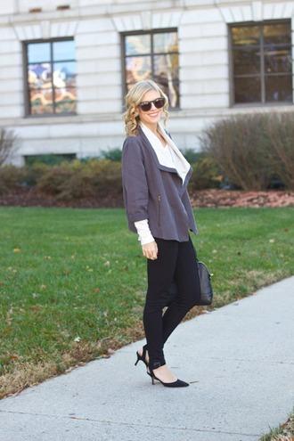 life with emily blogger jacket bag black jeans
