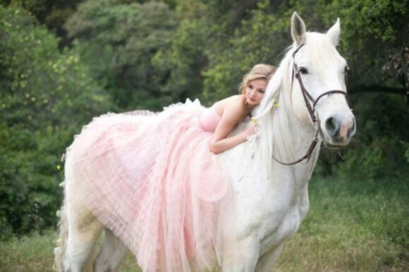 prom dress light pink ruffles dress princess dress