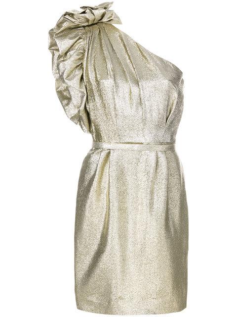 Stella McCartney one-shoulder Lurex Dress - Farfetch