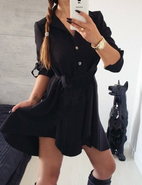 Dress black dress summer dress cute dress hipster wishlist streetwear streetstyle casual ...