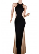 Two Tone Maxi Dress - Dresses - Clothing