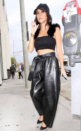 pants crop tops top kourtney kardashian